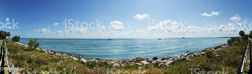 Panorama Ocean View at Biscayne National Park in Miami stock photo