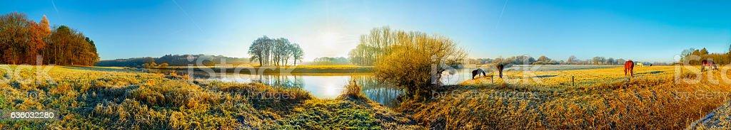 Panorama of a beautiful landscape stock photo