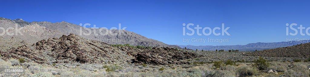 Panorama of a Desert Landscape in California stock photo