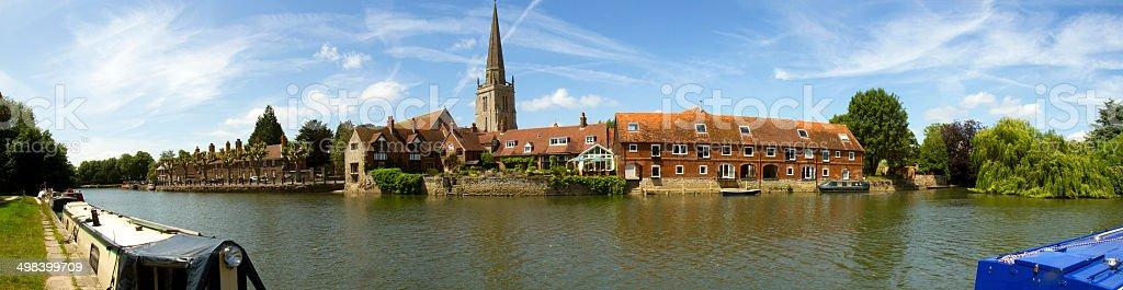 Panorama of Abingdon England stock photo