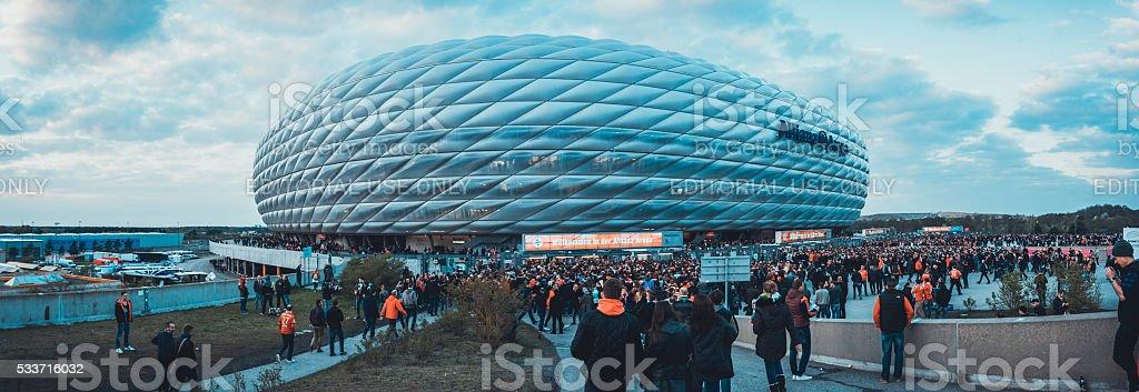 Panorama of Allianz Arena stock photo