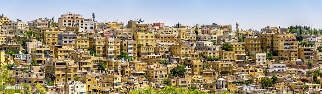 Panorama of Amman, Jordan stock photo