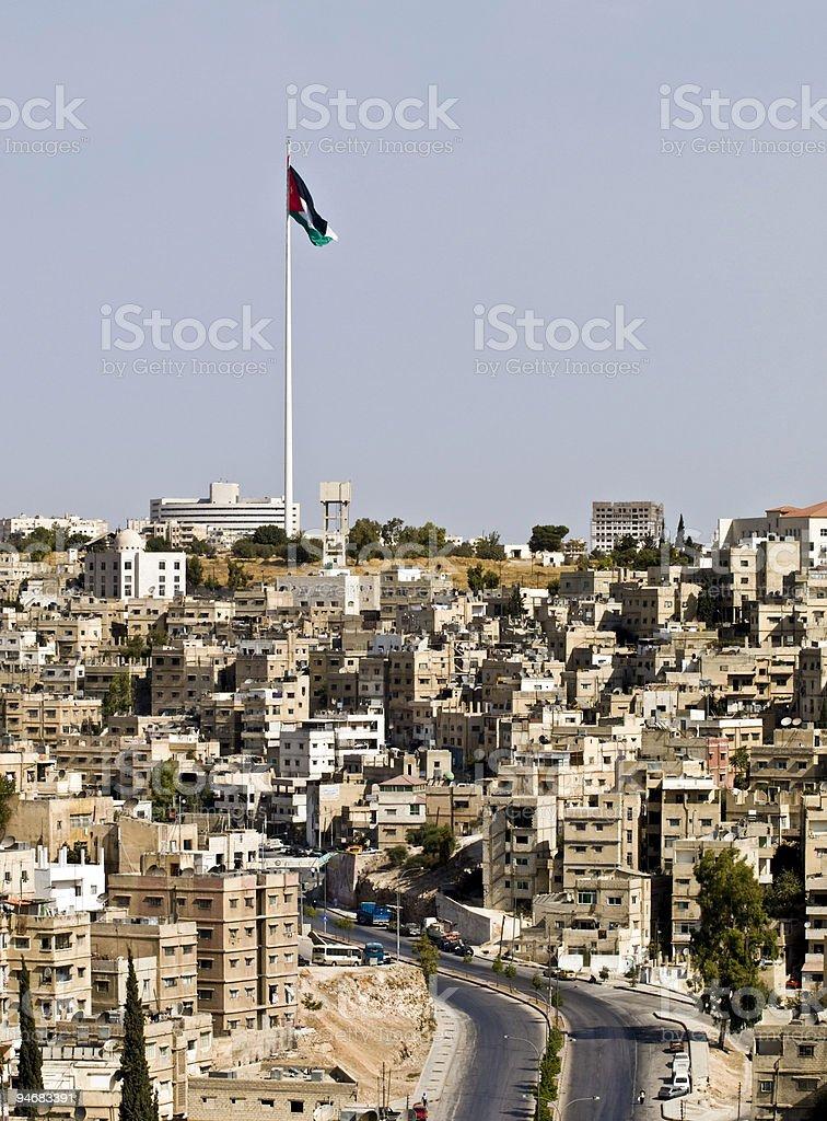 Panorama of Amman, Jordan stock photo