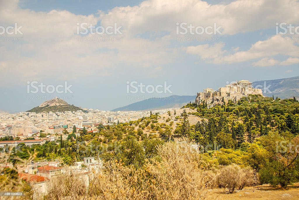 Panorama of Ancient Athens royalty-free stock photo