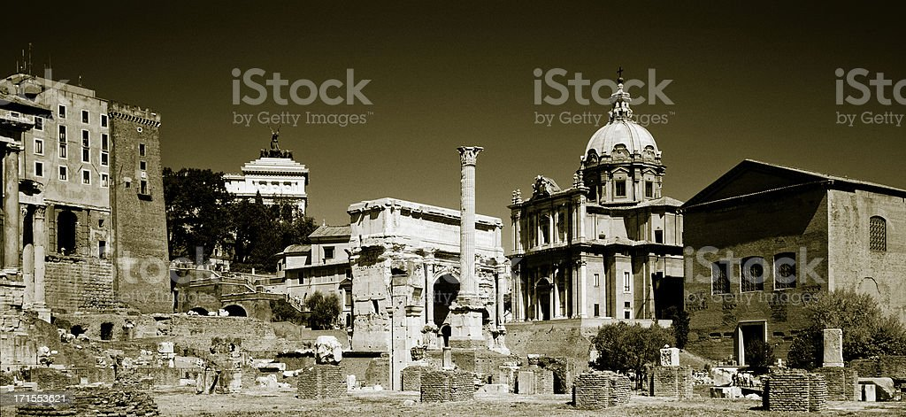panorama of ancient rome , XXL stock photo