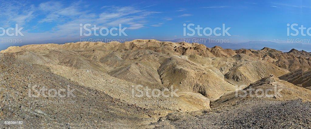 Panorama of Arava deser stock photo