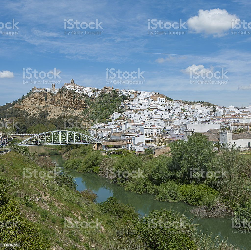 Panorama of Arcos de la Frontera, Andalusia, Spain stock photo