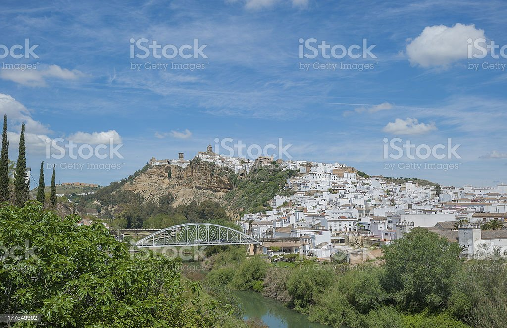 Panorama of Arcos de la Frontera, Andalusia, Spain royalty-free stock photo