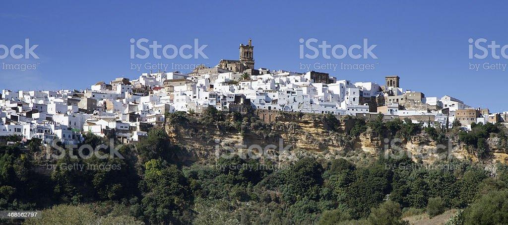 Panorama of Arcos de la Frontera stock photo