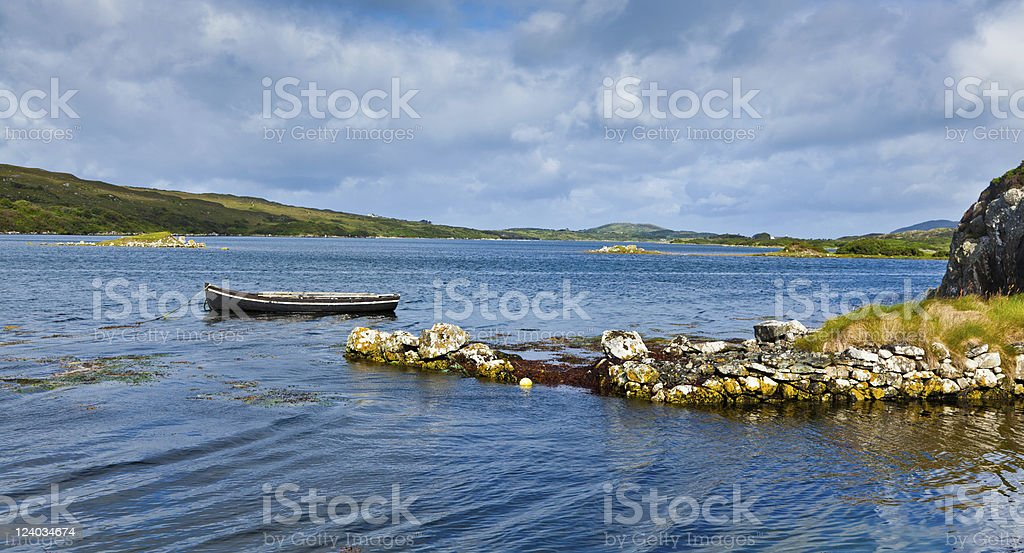 Panorama of Ardmore bay stock photo