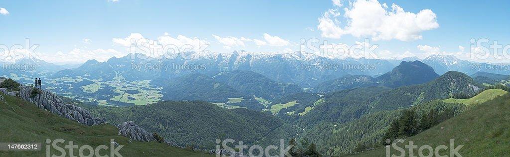 Panorama of Austrian Alps stock photo