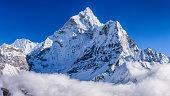 Panorama of beautiful Mount Ama Dablam in  Himalayas, Nepal