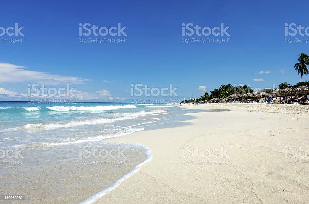 Panorama of beautiful Varadero Beach stock photo