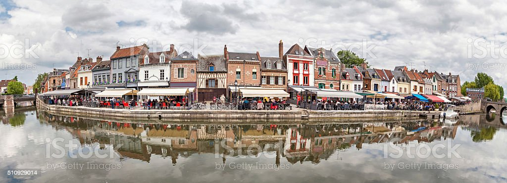 Panorama of Belu embankment n Amiens stock photo