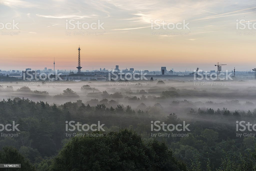 Panorama of Berlin from the Teufelsberg stock photo