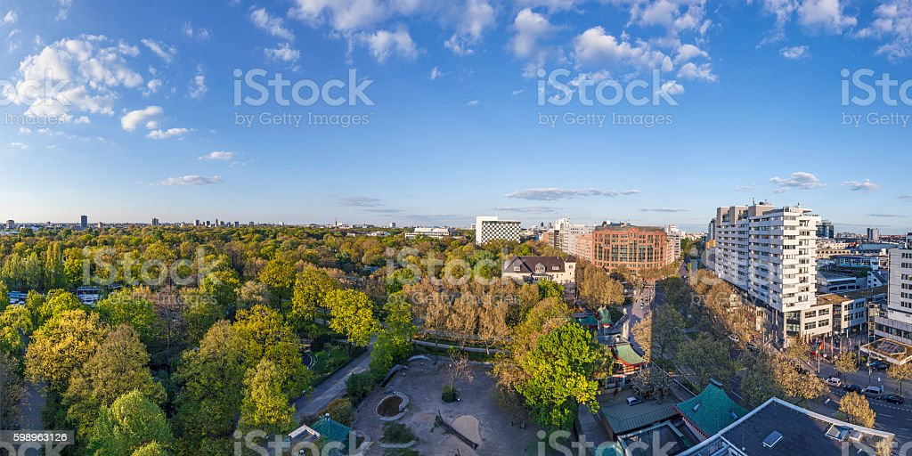 panorama of Berlin stock photo