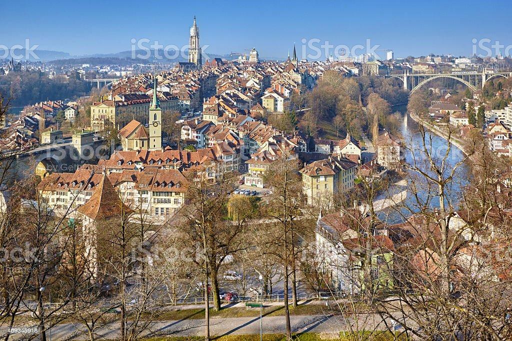 Panorama of Bern, Switzerland stock photo