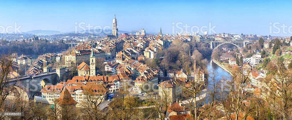 Panorama of Bern, Switzerland stock photo