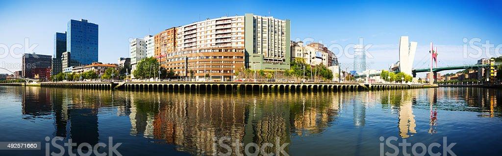 Panorama of Bilbao stock photo