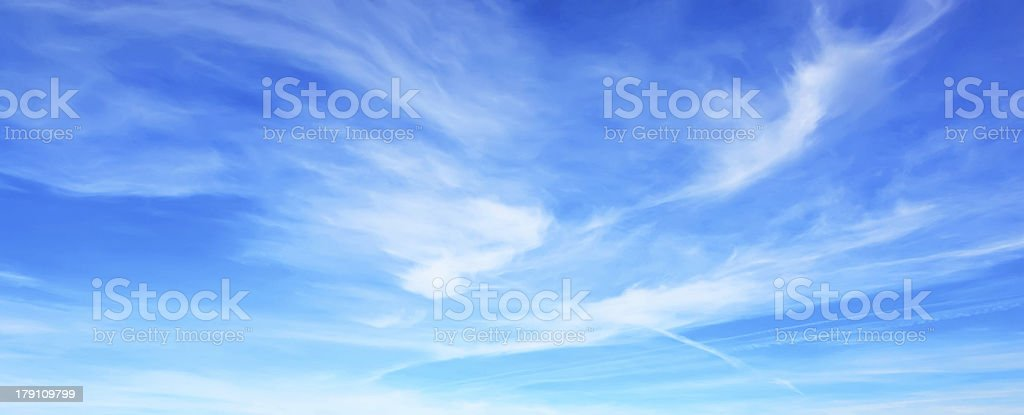 Panorama of blue sky royalty-free stock photo