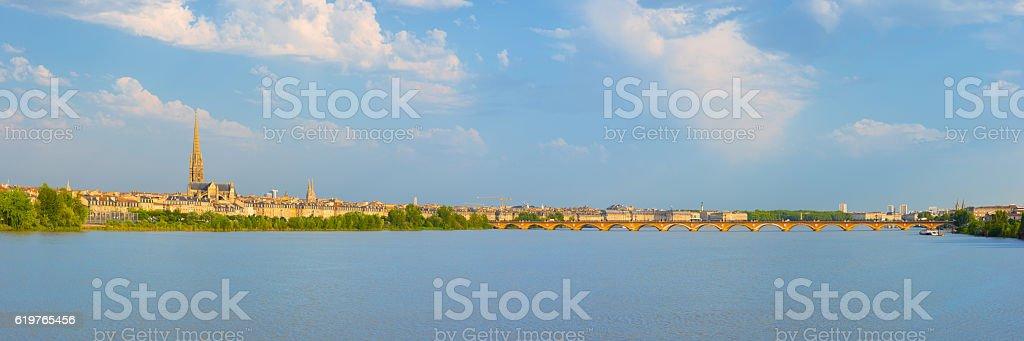 Panorama of Bordeaux stock photo