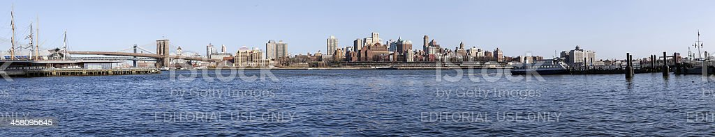 Panorama of Brooklyn from lower Manhattan royalty-free stock photo