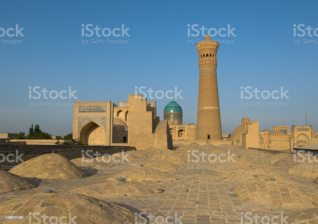 Panorama of Bukhara, Uzbekistan royalty-free stock photo