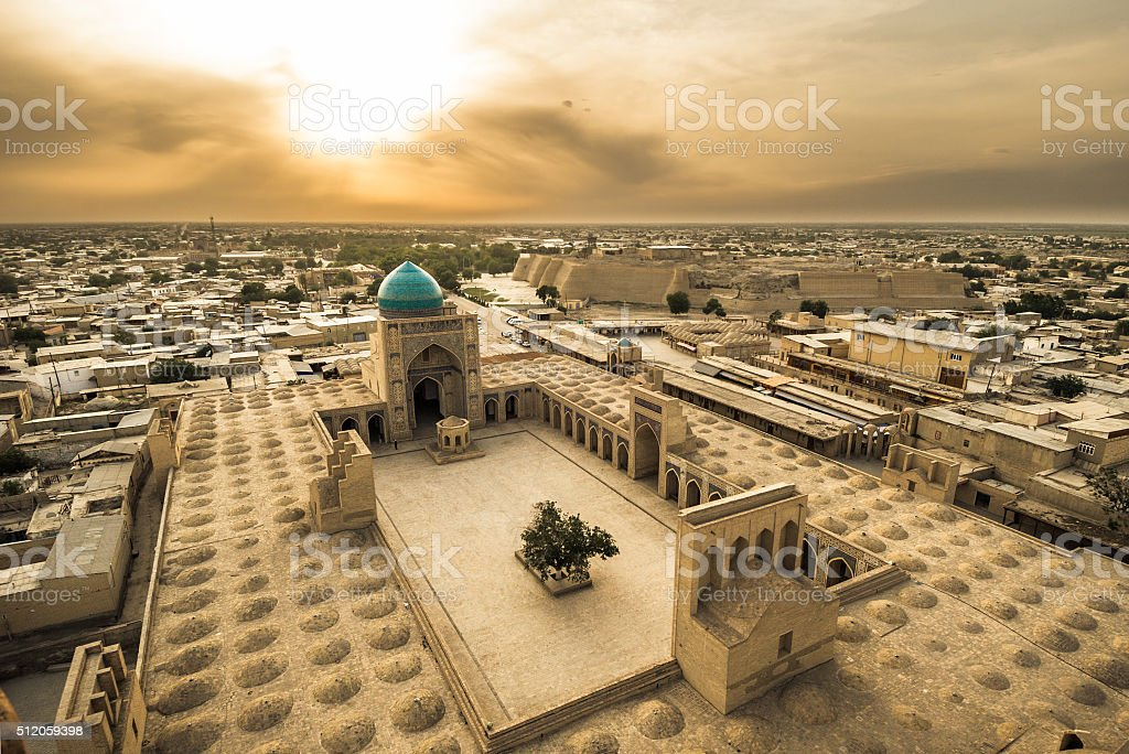 Panorama of Bukhara, Uzbekistan stock photo