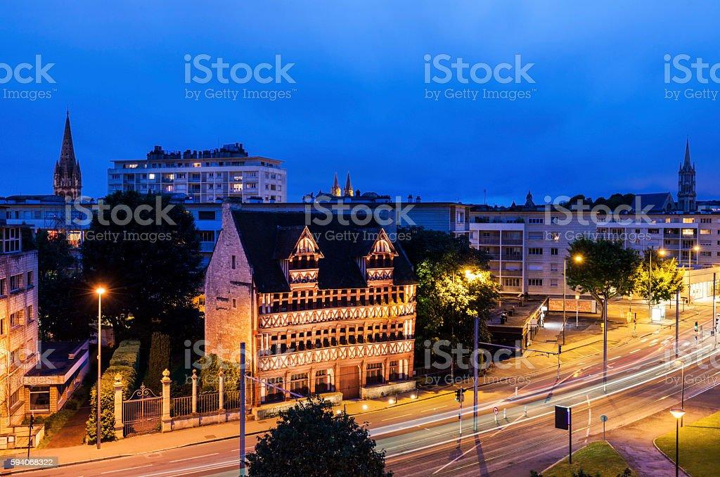Panorama of Caen stock photo
