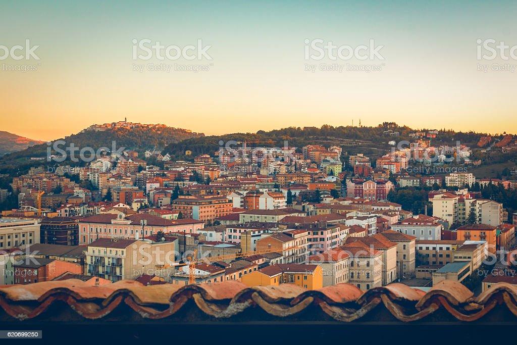 panorama of campobasso stock photo