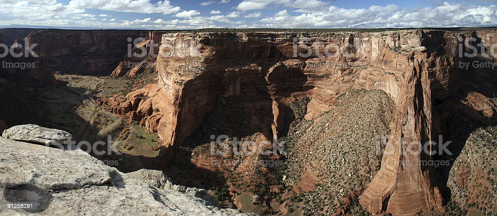 Panorama of Canyon De Chelly royalty-free stock photo