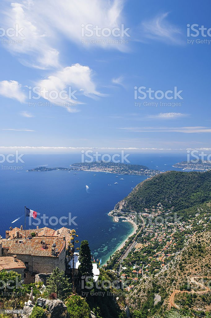 Panorama of Cap Ferat and the Cote d'Azur near Nice royalty-free stock photo