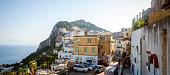 Panorama of Capri Town on Capri Island in Italy