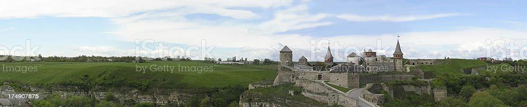 Panorama of castle - 13th century, in Ukraine royalty-free stock photo