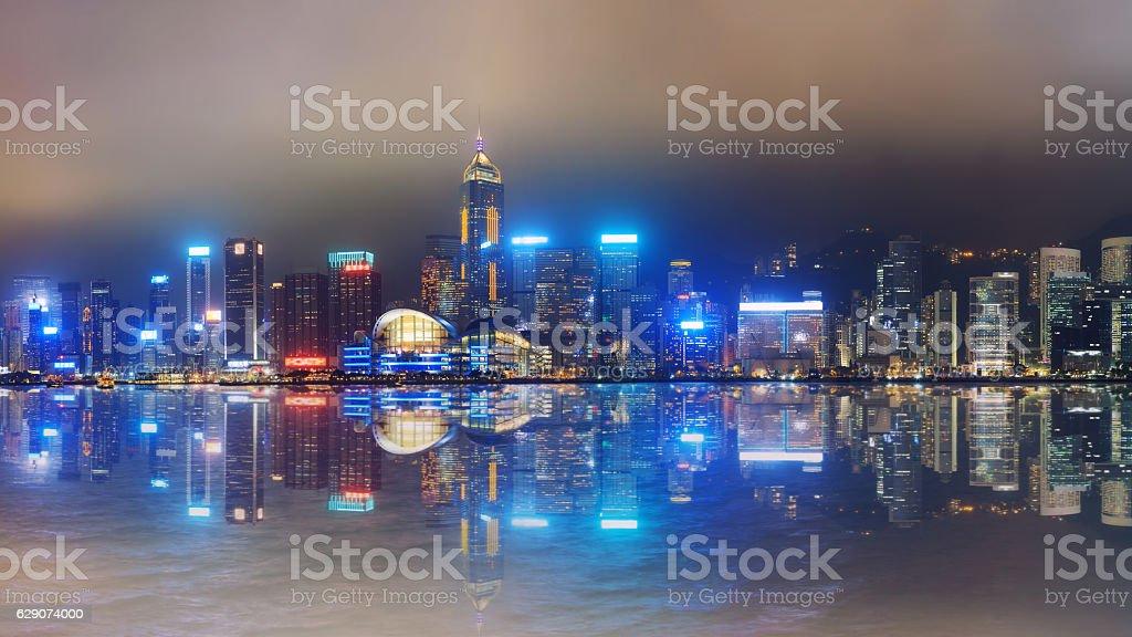 Panorama of central Hong Kong stock photo
