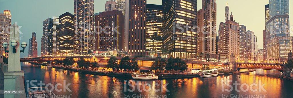Panorama of Chicago, Illinois. stock photo