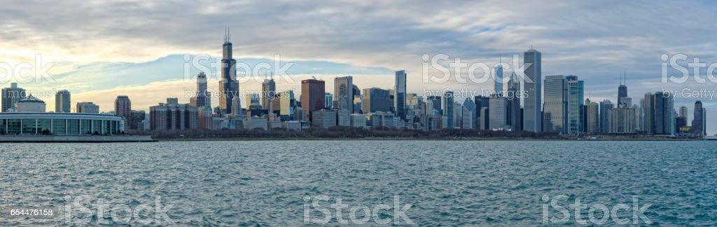 Panorama of Chicago stock photo