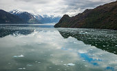 Panorama of Chilean Fjords in Northern Patagonia, Chile