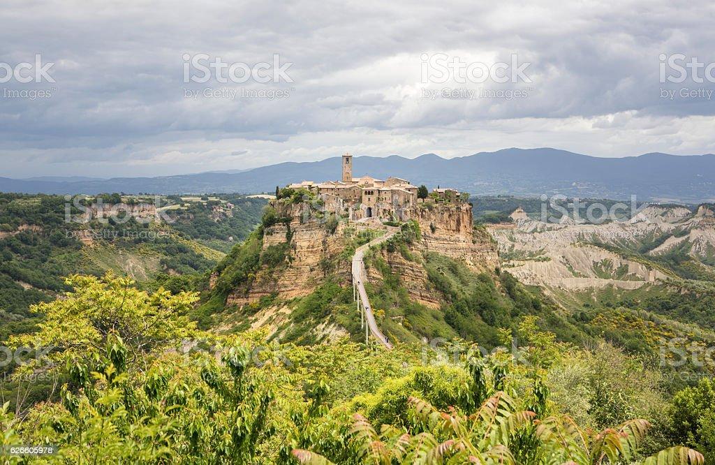 Panorama of Civita di Bagnoregio, Lazio Italy stock photo