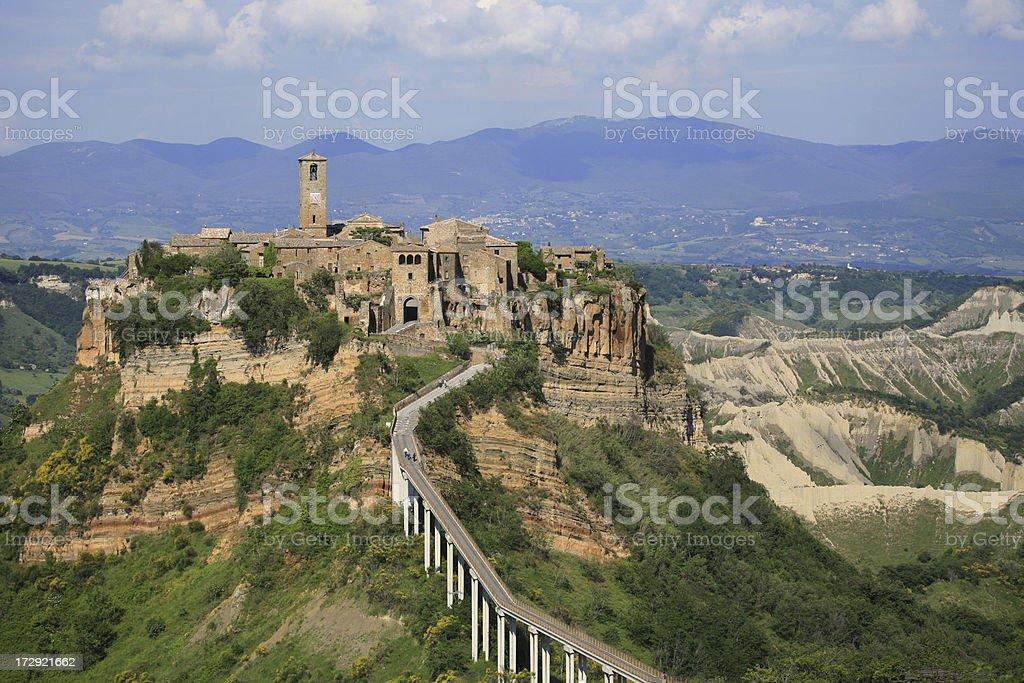Panorama of Civita di Bagnoregio stock photo