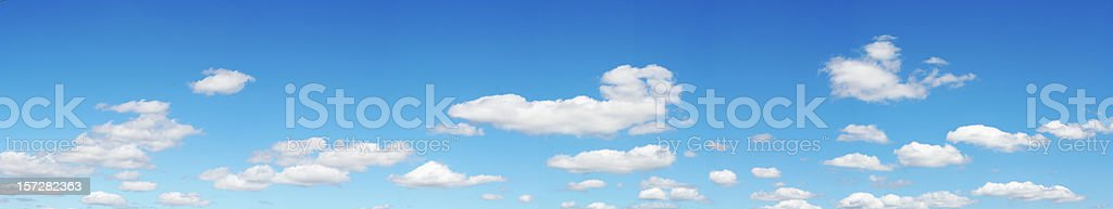 Panorama of Clouds royalty-free stock photo