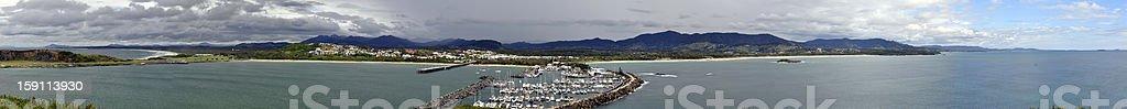 XXL Panorama of Coffs Harbour - Australia royalty-free stock photo