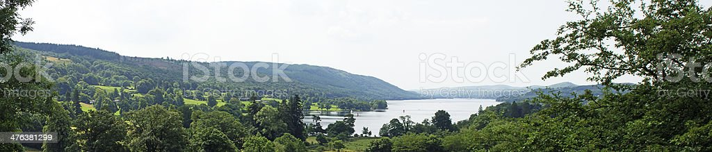 Panorama of Coniston water royalty-free stock photo