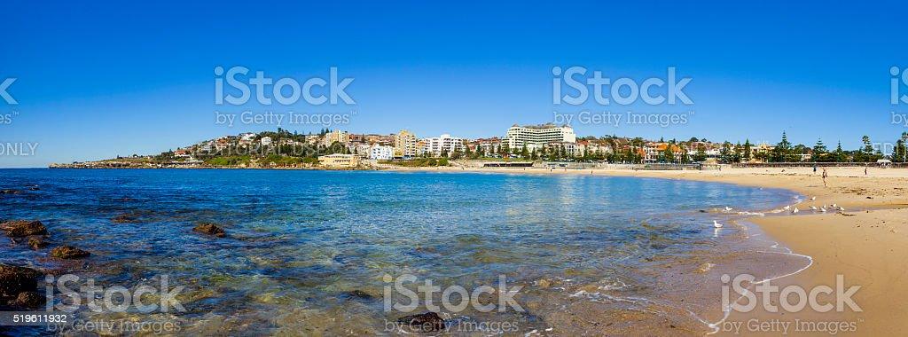 Panorama of Coogee Beach in Sydney, Australia stock photo
