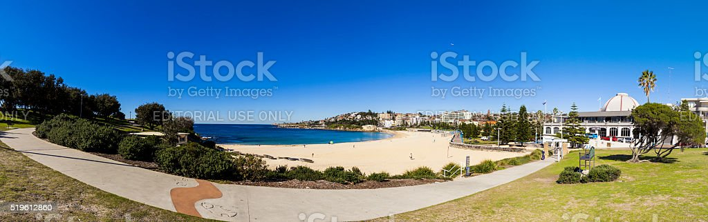 Panorama of Coogee in Sydney, Australia stock photo