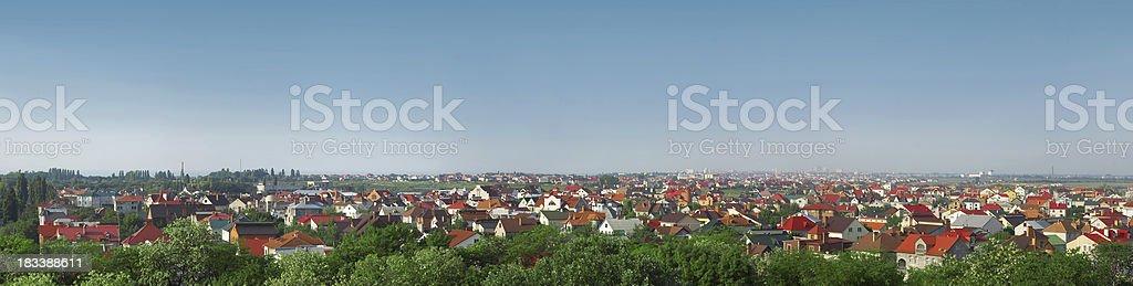 Panorama of cottage suburban royalty-free stock photo