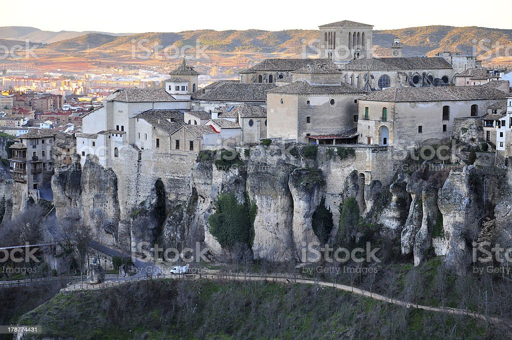 panorama of Cuenca from above stock photo