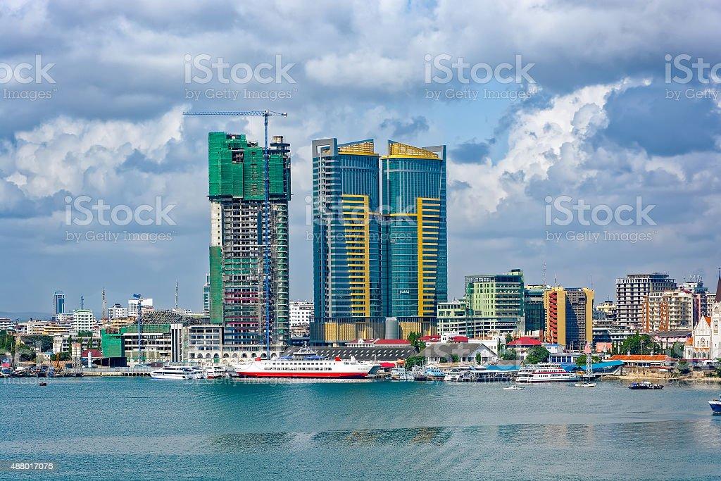 Panorama of Dar Es Salaam City Centre stock photo