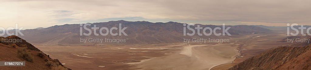 Panorama of Death Valley stock photo
