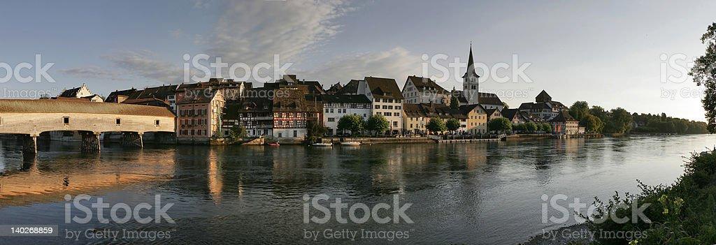 Panorama of Diessenhofen (Rhine, Switzerland) royalty-free stock photo